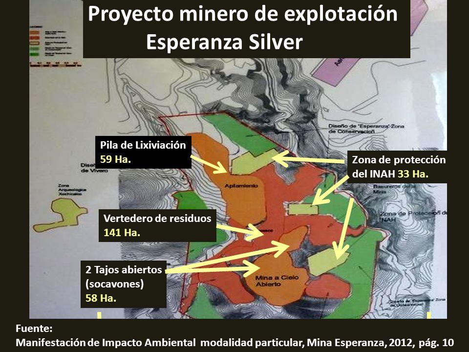 . Proyecto minero de explotación Esperanza Silver Pila de Lixiviación