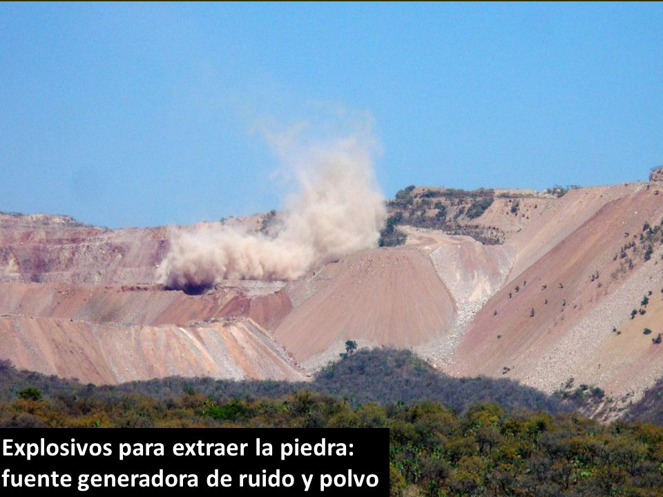 . Explosivos para extraer la piedra: