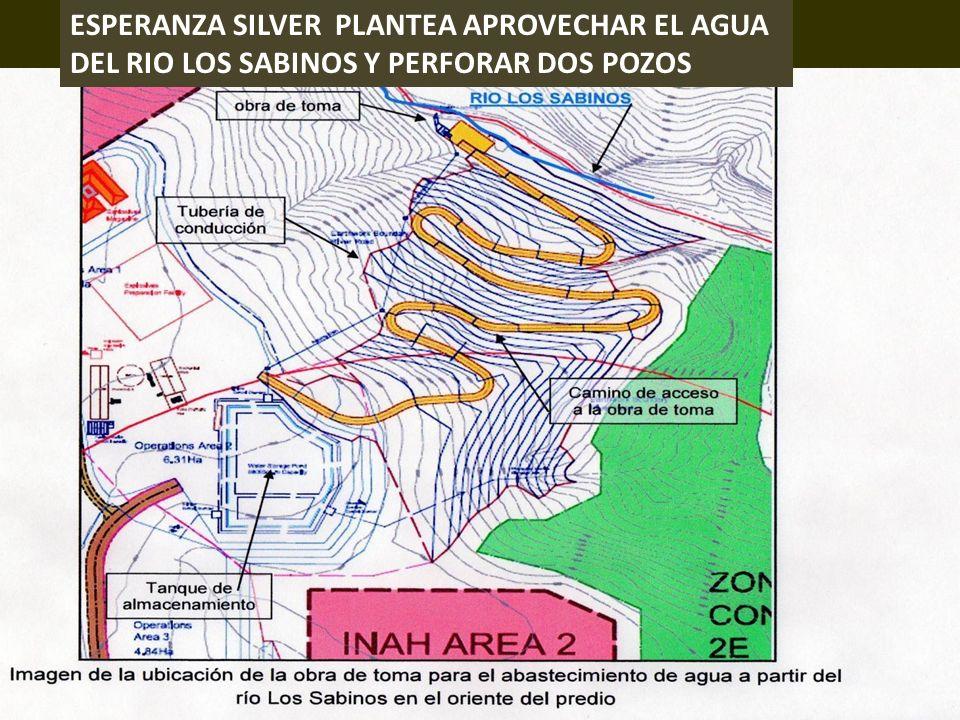 ESPERANZA SILVER PLANTEA APROVECHAR EL AGUA
