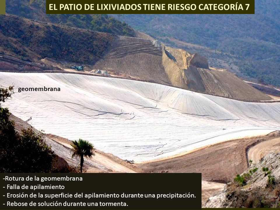 . EL PATIO DE LIXIVIADOS TIENE RIESGO CATEGORÍA 7 geomembrana