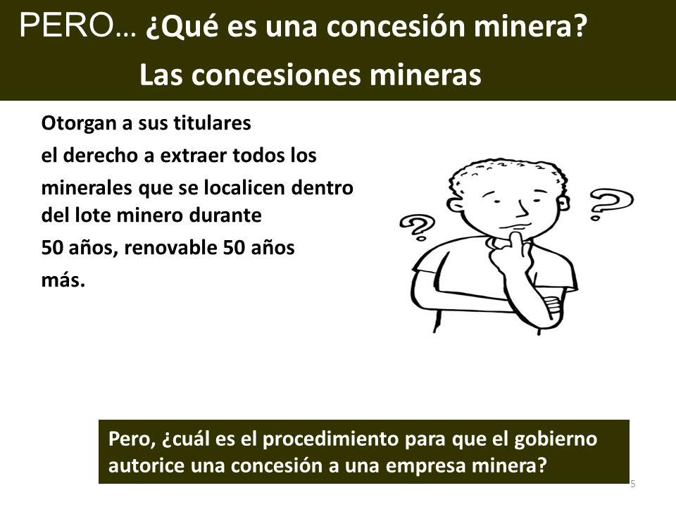 PERO… ¿Qué es una concesión minera Las concesiones mineras