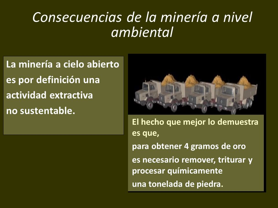 Consecuencias de la minería a nivel ambiental