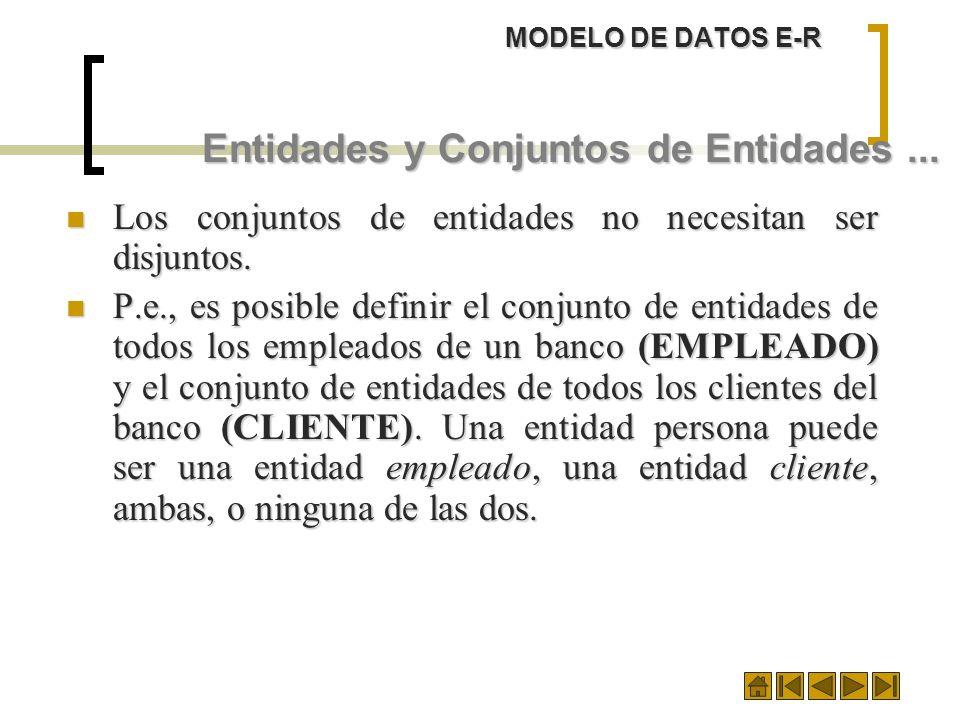 Entidades y Conjuntos de Entidades ...