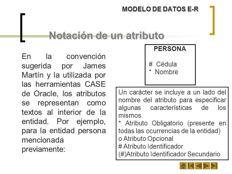 Notación de un atributo