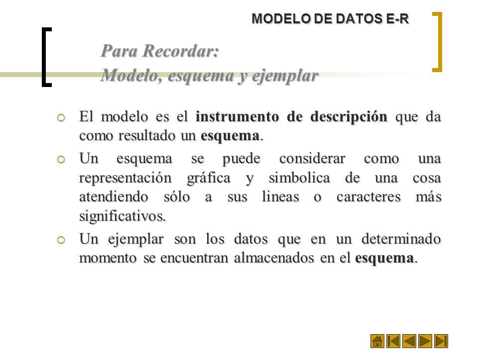 Modelo, esquema y ejemplar