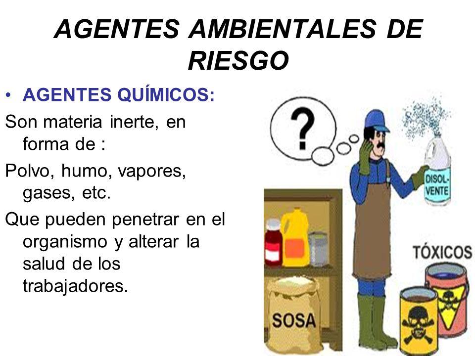AGENTES AMBIENTALES DE RIESGO