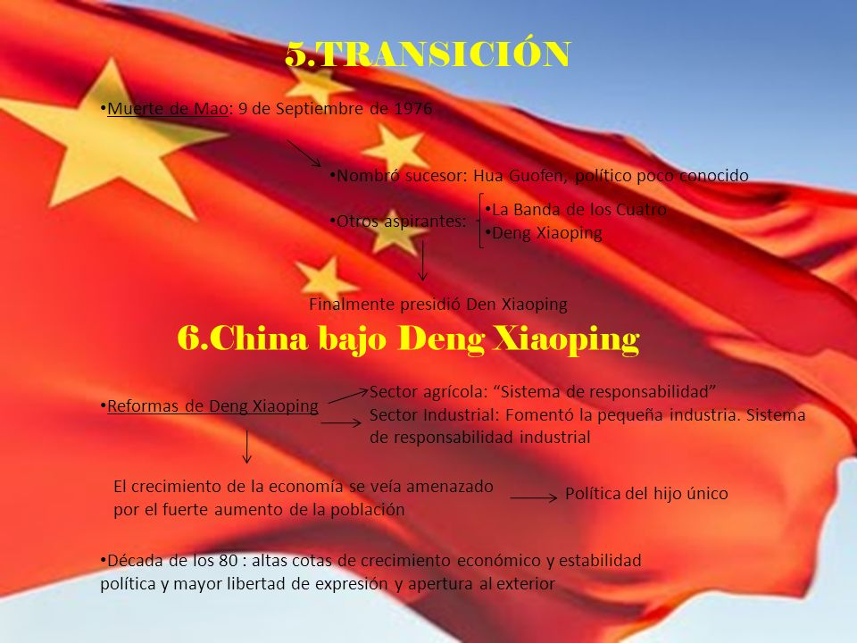 6.China bajo Deng Xiaoping