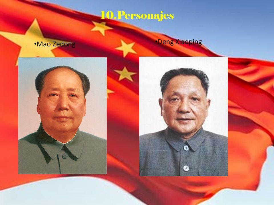 10.Personajes Deng Xiaoping Mao Zedong