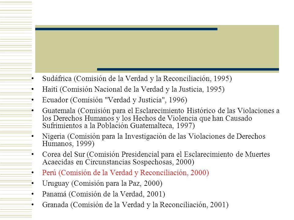 Sudáfrica (Comisión de la Verdad y la Reconciliación, 1995)