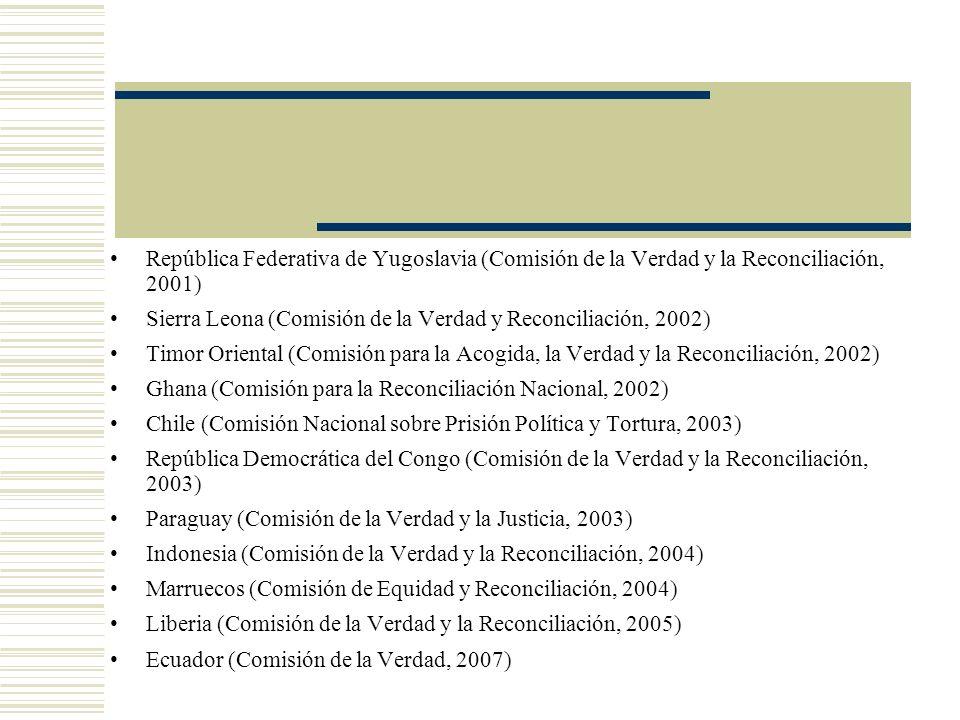 República Federativa de Yugoslavia (Comisión de la Verdad y la Reconciliación, 2001)