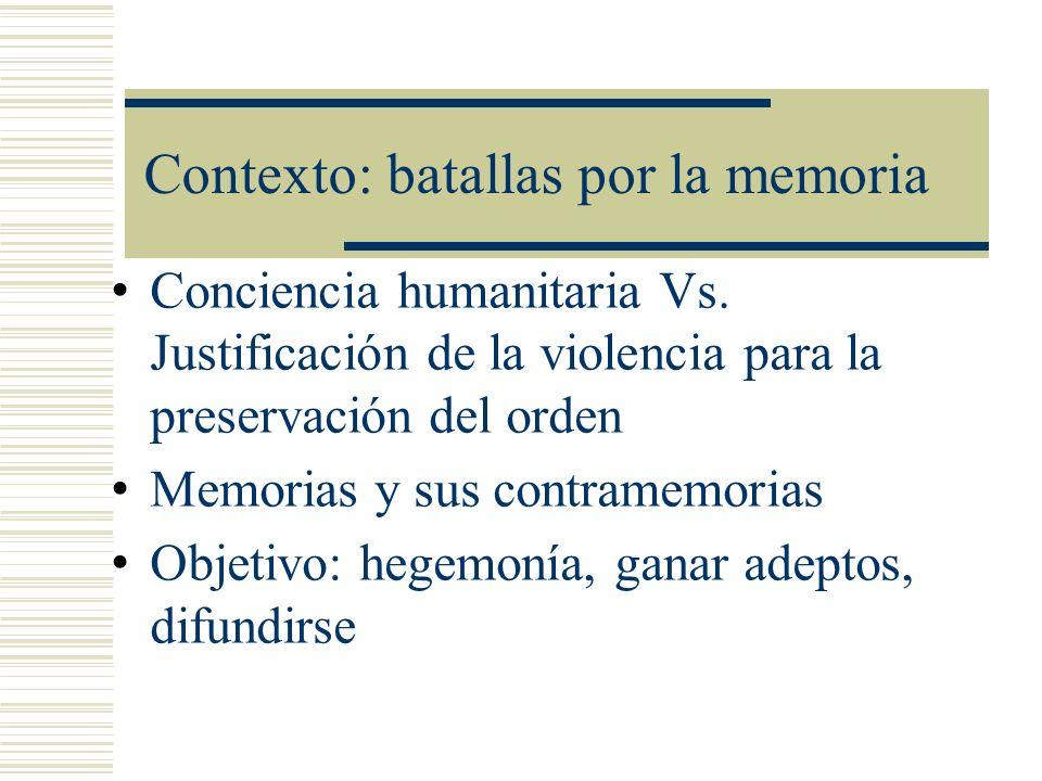 Contexto: batallas por la memoria