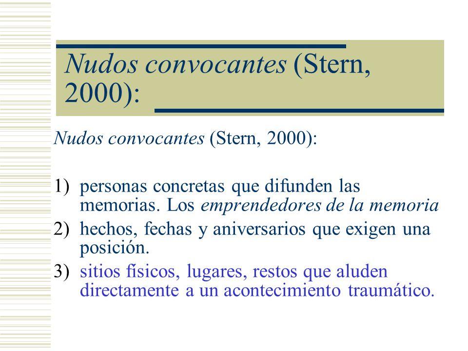 Nudos convocantes (Stern, 2000):