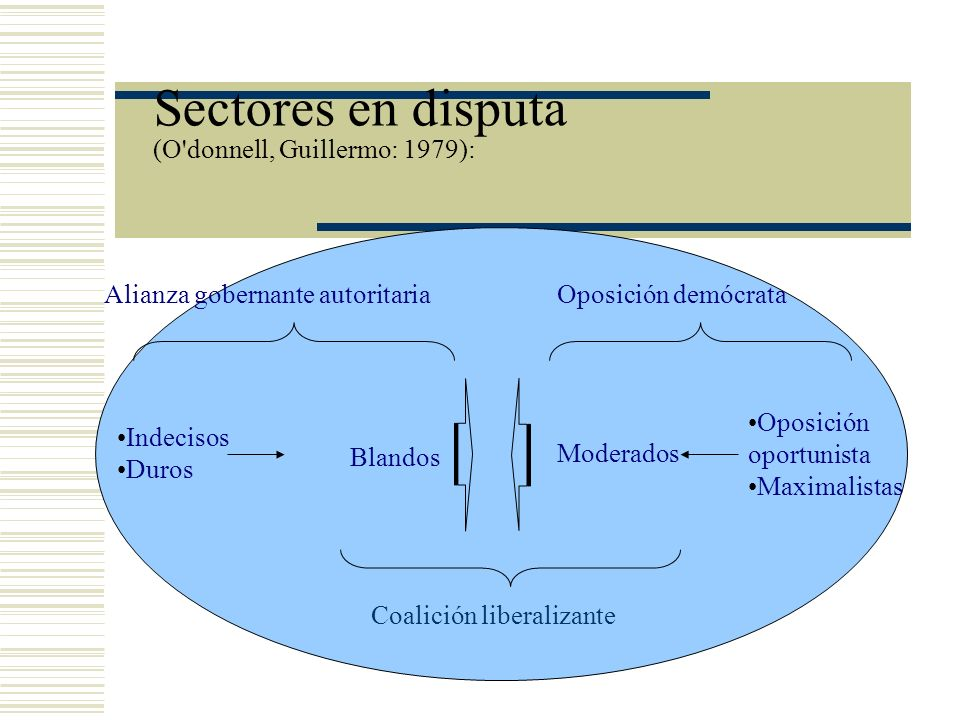 Sectores en disputa (O donnell, Guillermo: 1979):