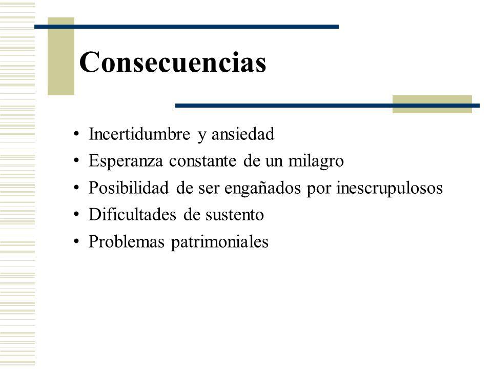Consecuencias Incertidumbre y ansiedad