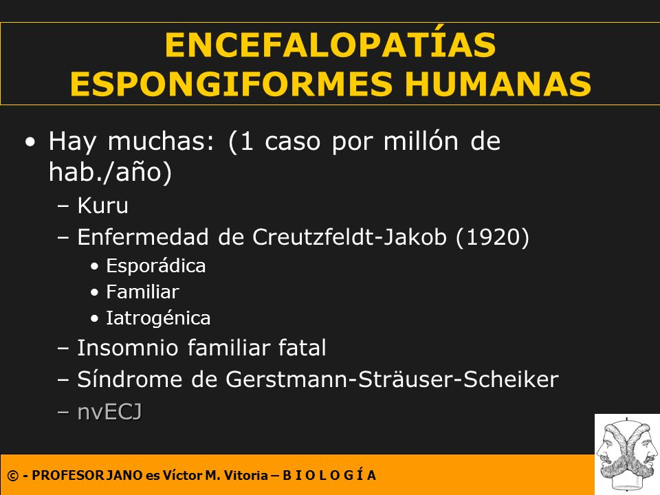 ENCEFALOPATÍAS ESPONGIFORMES HUMANAS