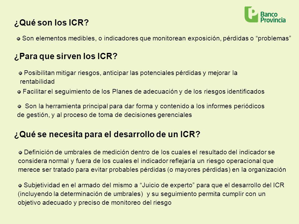 ¿Para que sirven los ICR