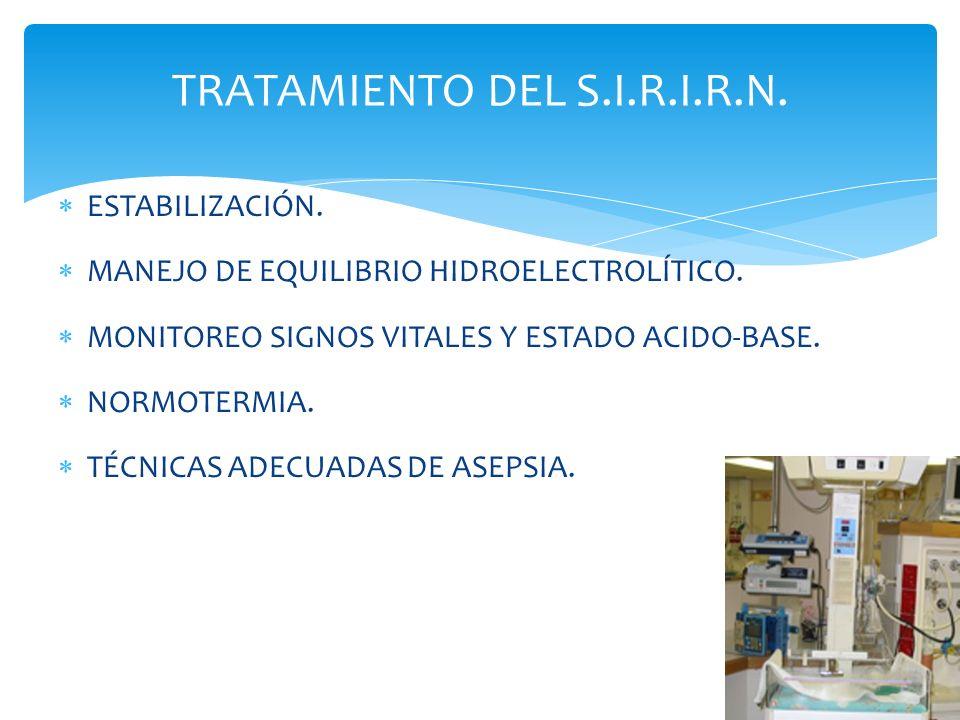 TRATAMIENTO DEL S.I.R.I.R.N.