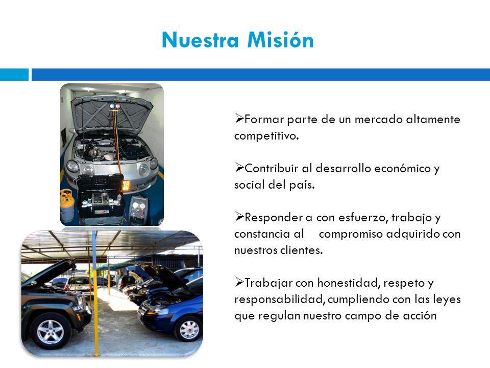 Nuestra Misión Formar parte de un mercado altamente competitivo.