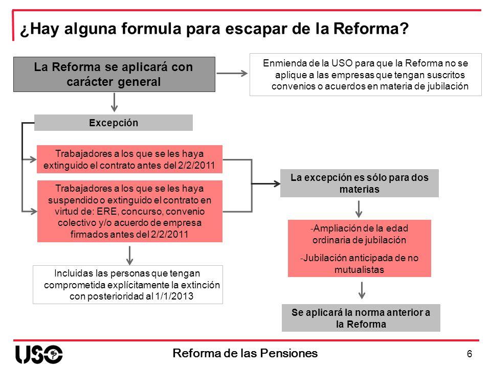 ¿Hay alguna formula para escapar de la Reforma