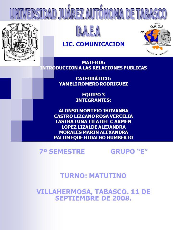 UNIVERSIDAD JUÁREZ AUTÓNOMA DE TABASCO D.A.E.A