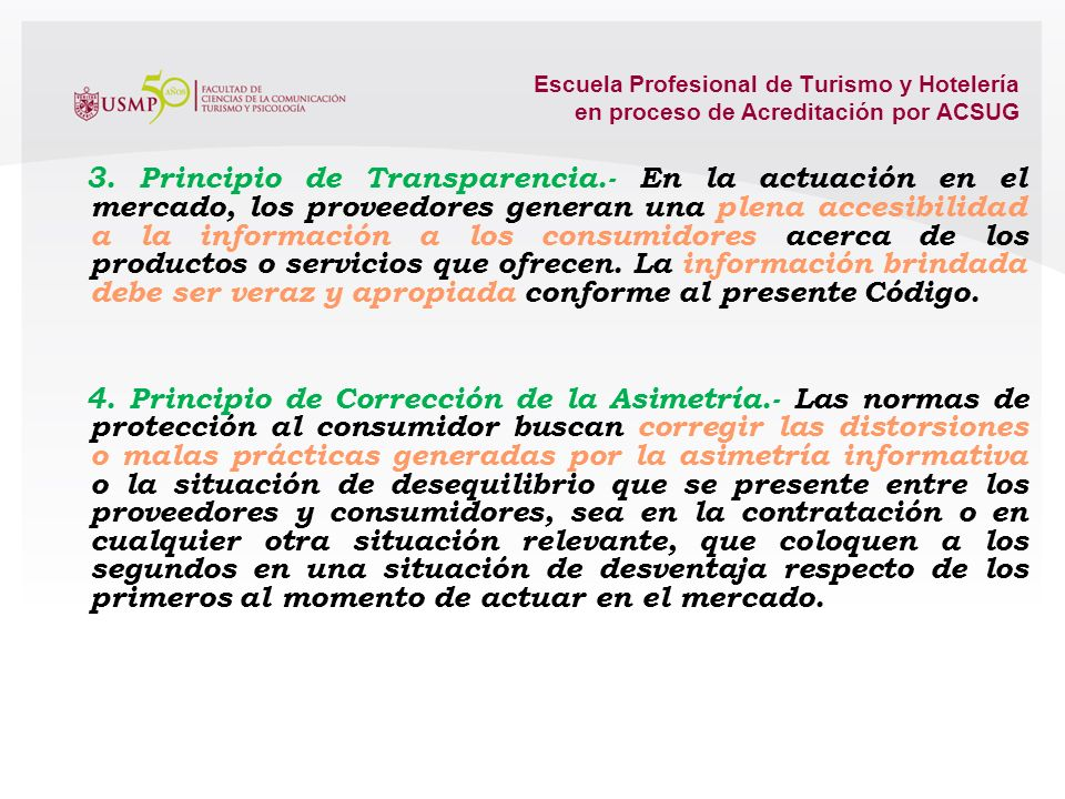 3. Principio de Transparencia