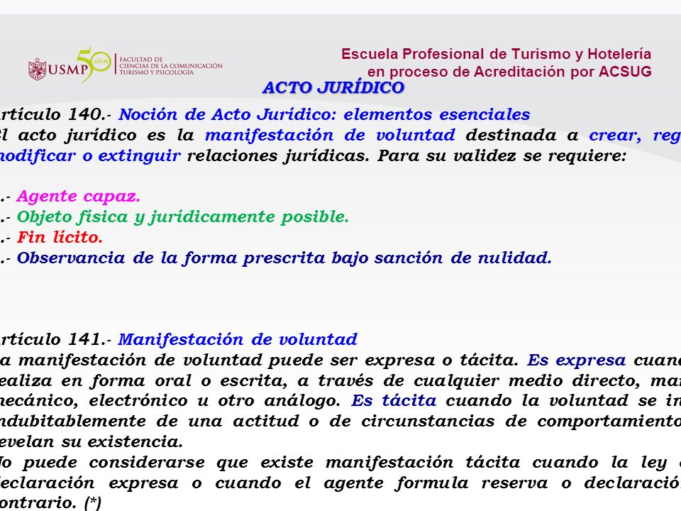 Artículo 140.- Noción de Acto Jurídico: elementos esenciales