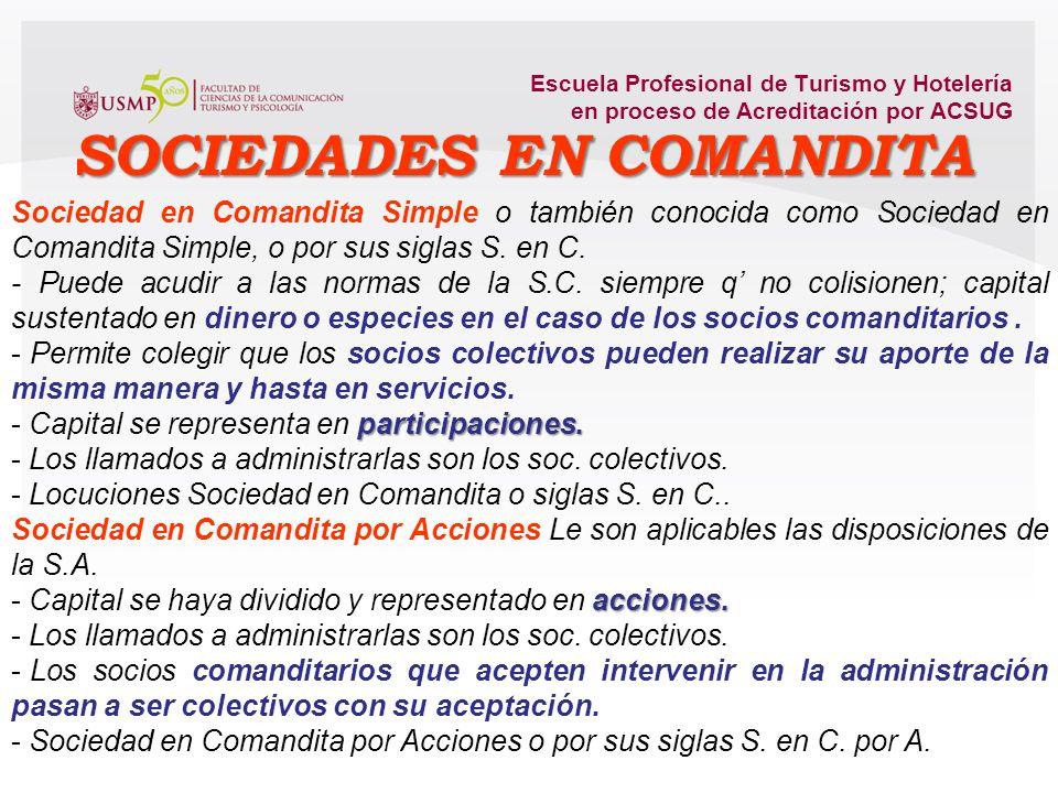SOCIEDADES EN COMANDITA