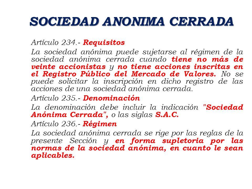 SOCIEDAD ANONIMA CERRADA