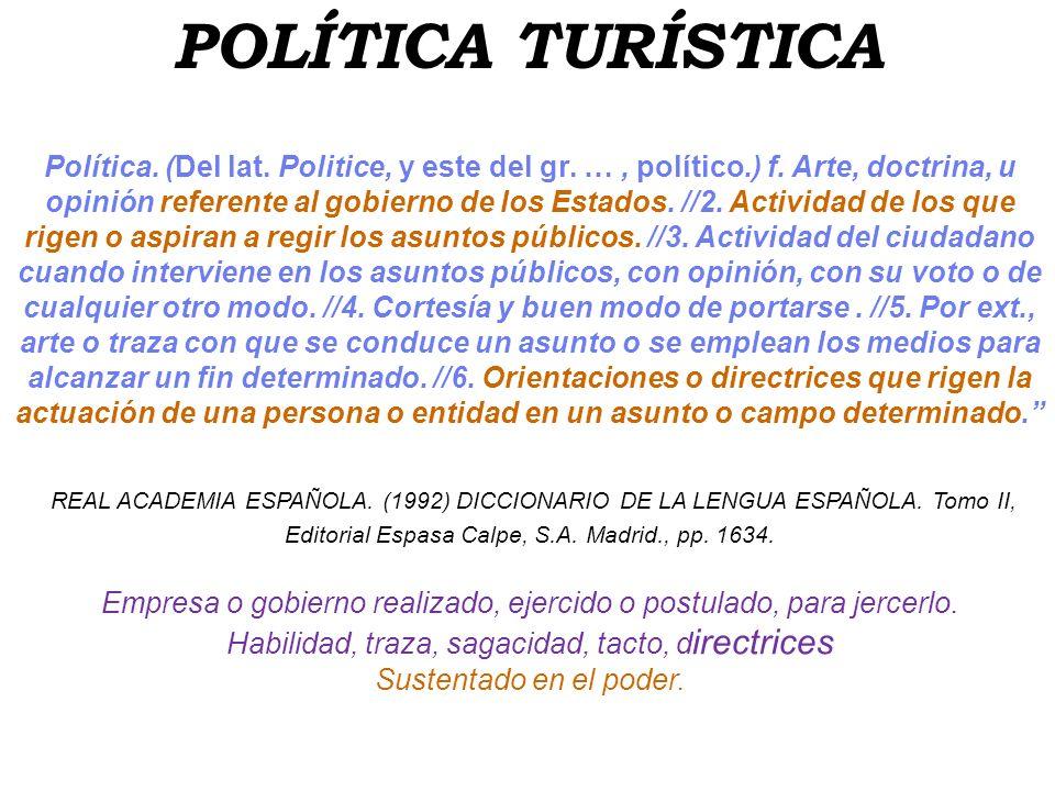 POLÍTICA TURÍSTICA