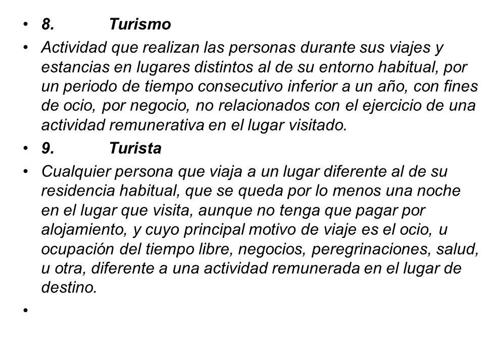 8. Turismo