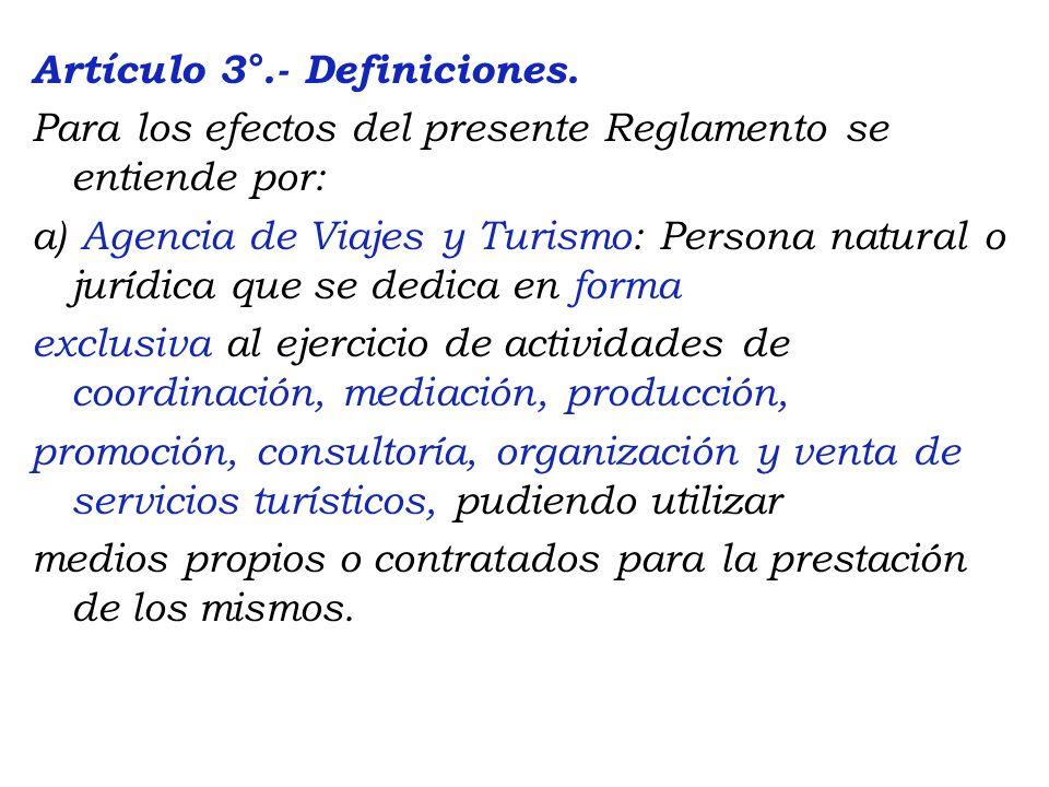 Artículo 3°. - Definiciones