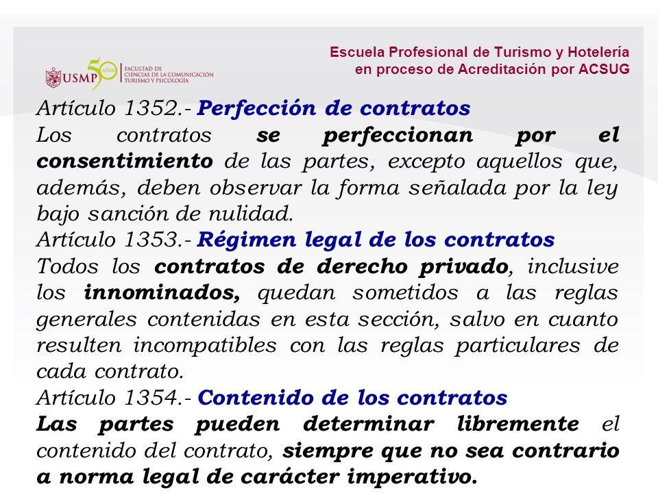 Artículo 1352.- Perfección de contratos