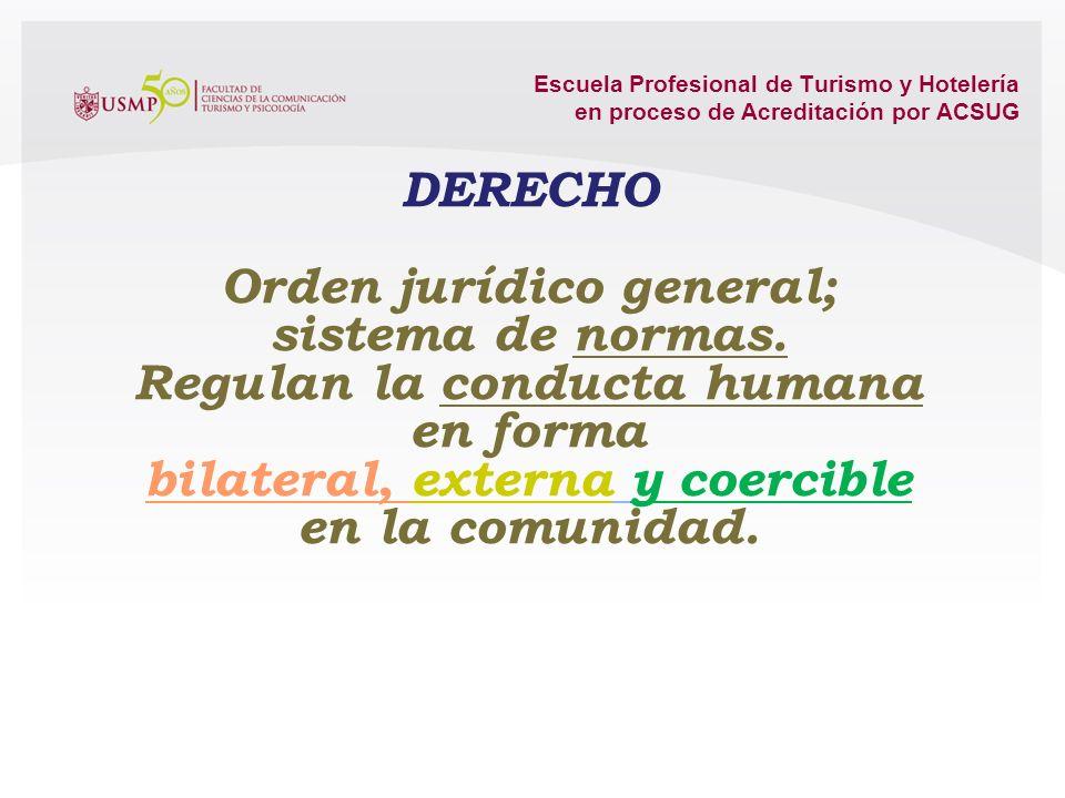Orden jurídico general; sistema de normas. Regulan la conducta humana