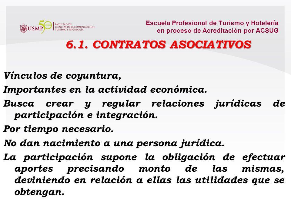 6.1. CONTRATOS ASOCIATIVOS