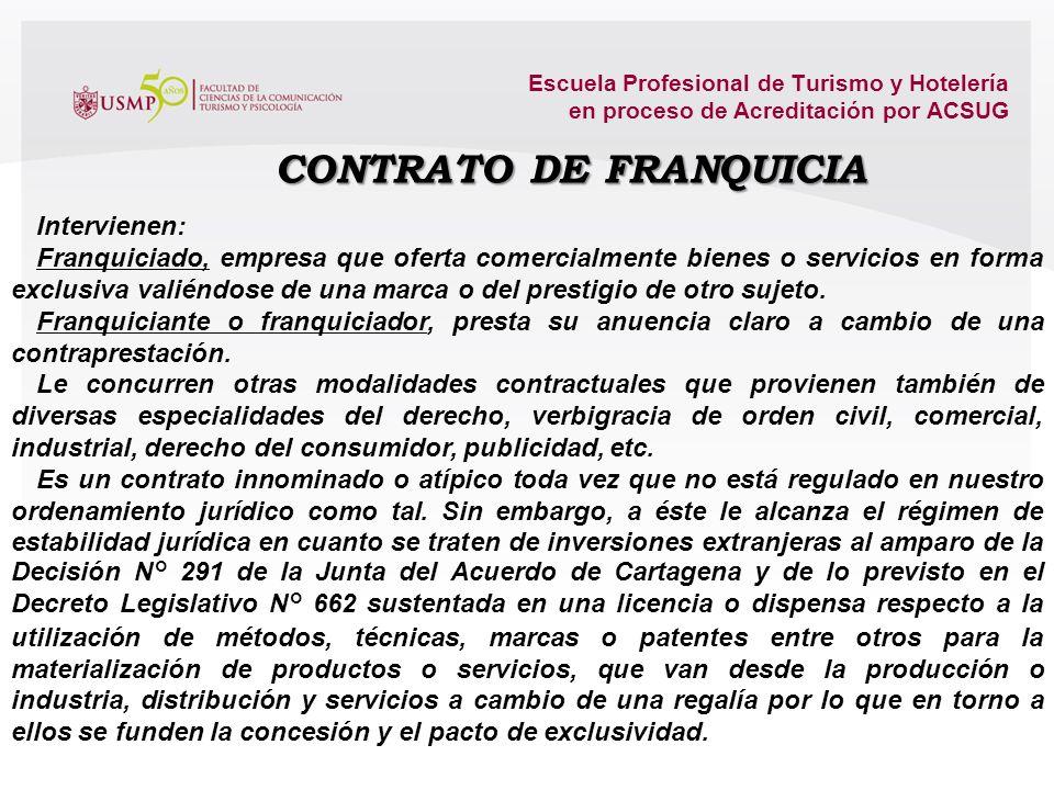 CONTRATO DE FRANQUICIA