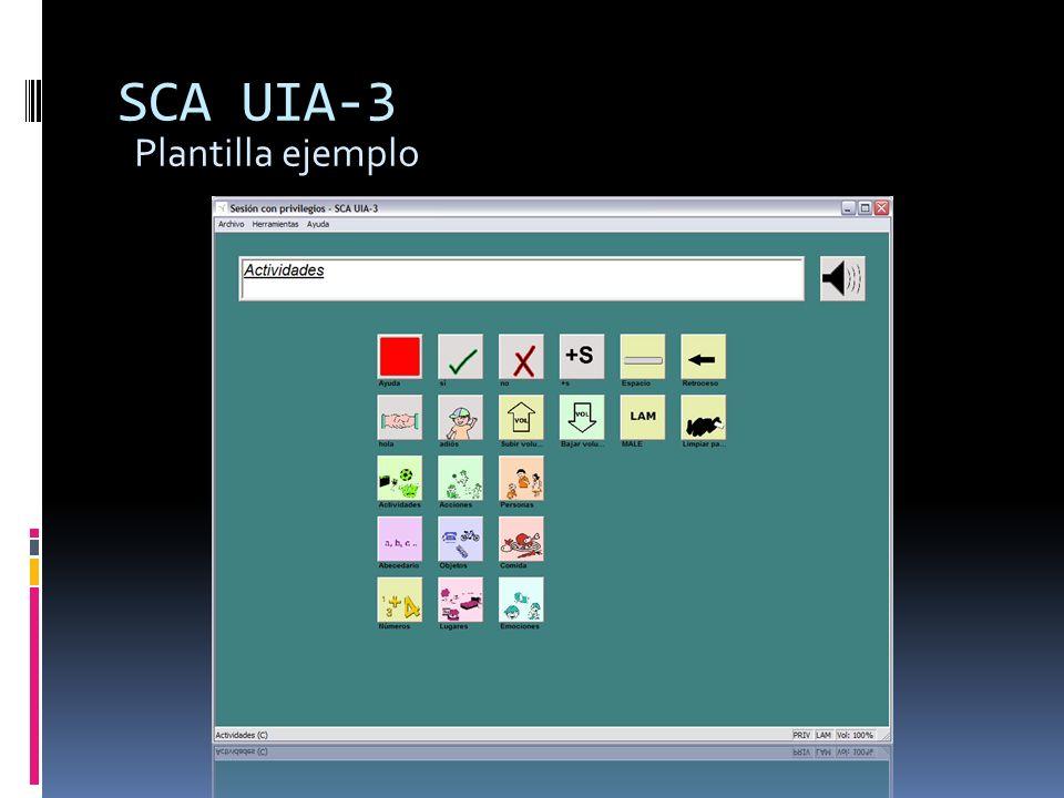 SCA UIA-3 Plantilla ejemplo