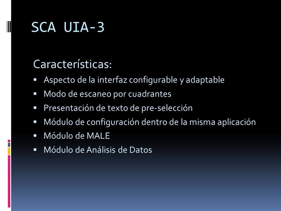 SCA UIA-3 Características: