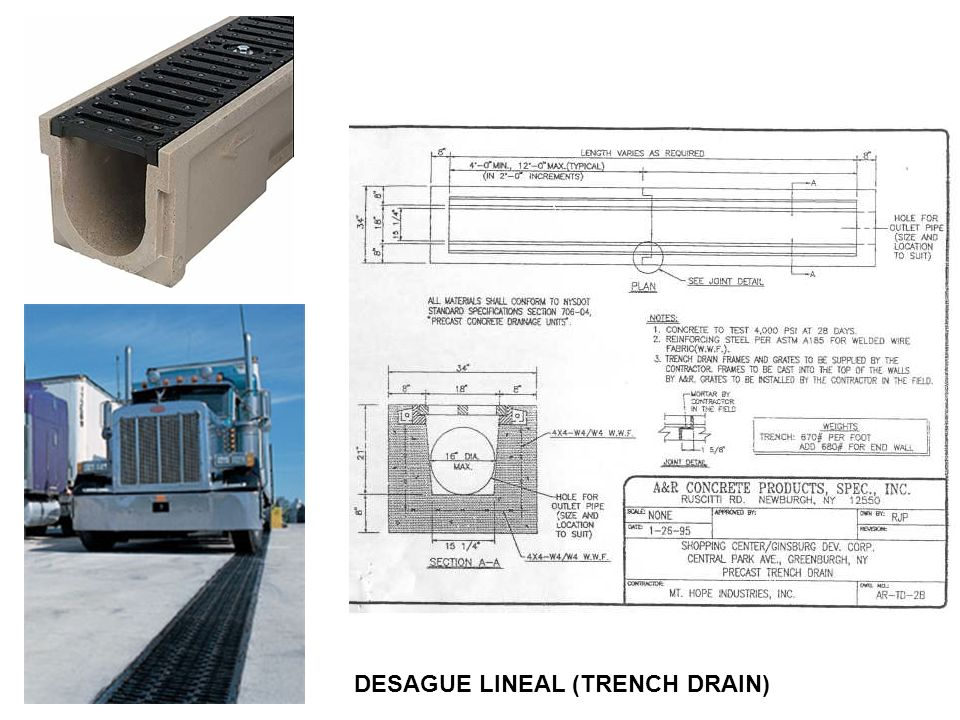 DESAGUE LINEAL (TRENCH DRAIN)
