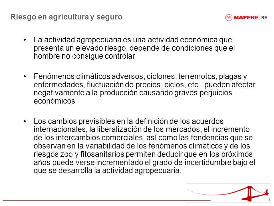 Riesgo en agricultura y seguro