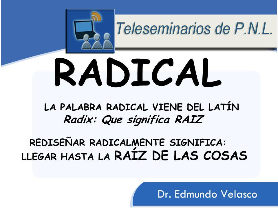 RADICAL Radix: Que significa RAIZ LA PALABRA RADICAL VIENE DEL LATÍN