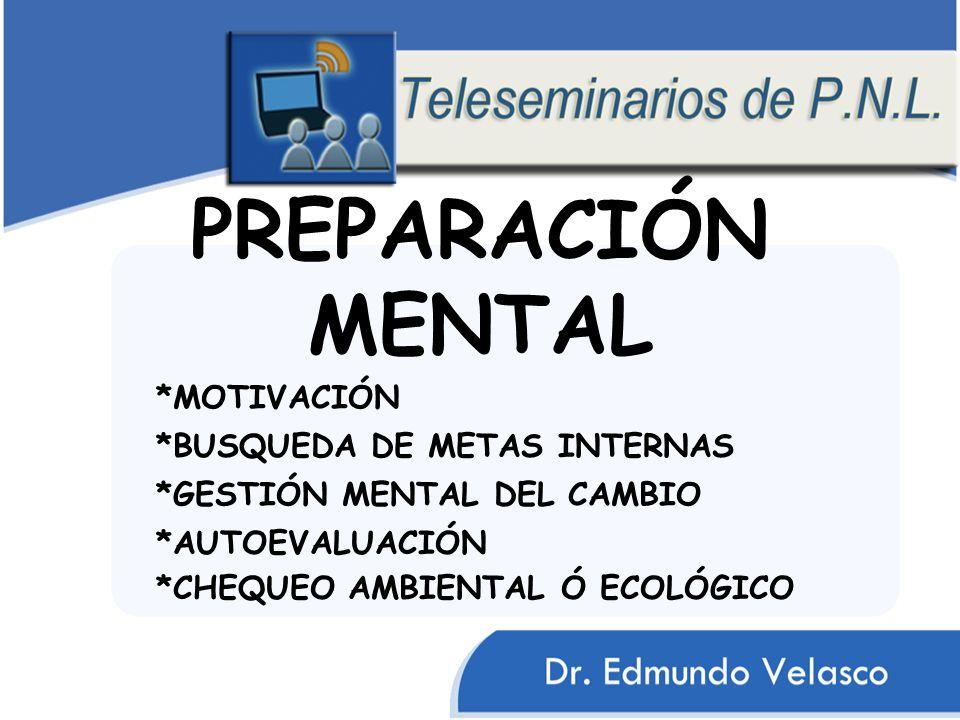 PREPARACIÓN MENTAL *MOTIVACIÓN *BUSQUEDA DE METAS INTERNAS