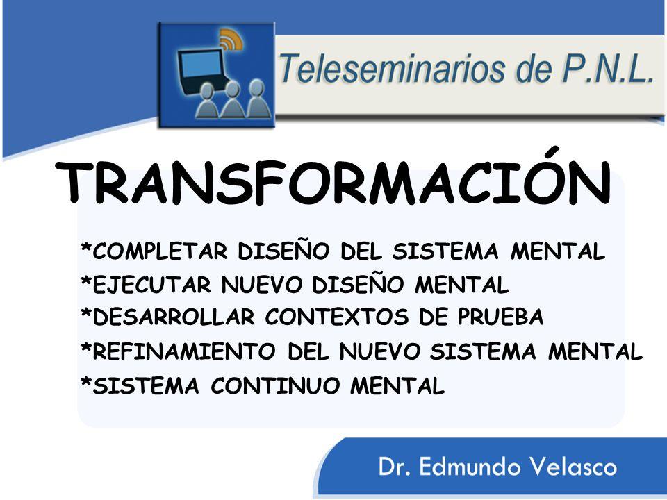 TRANSFORMACIÓN *COMPLETAR DISEÑO DEL SISTEMA MENTAL