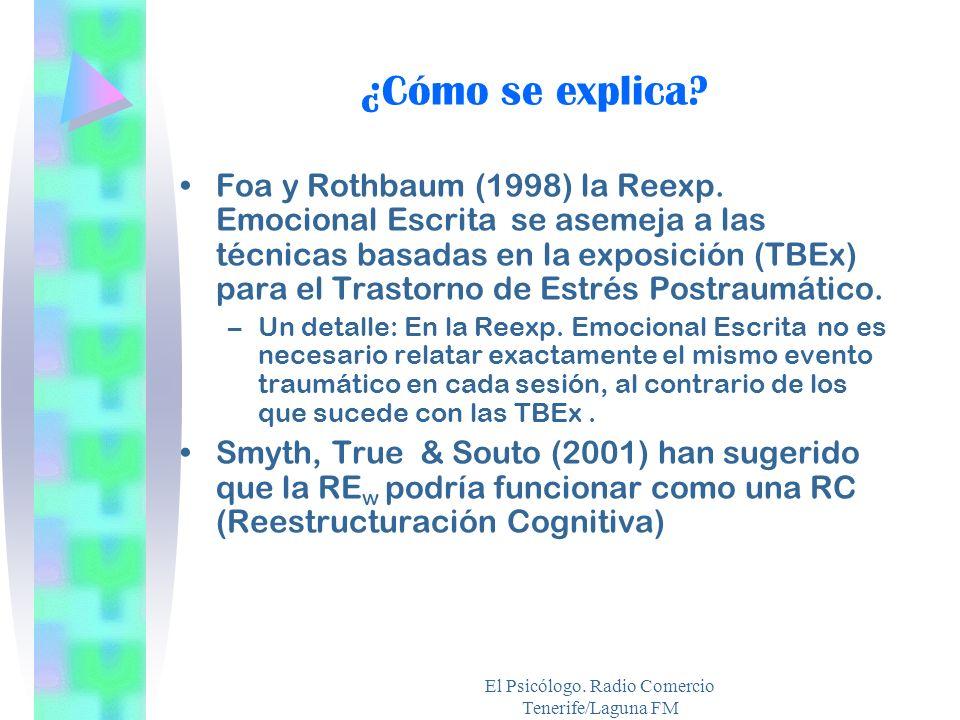 El Psicólogo. Radio Comercio Tenerife/Laguna FM