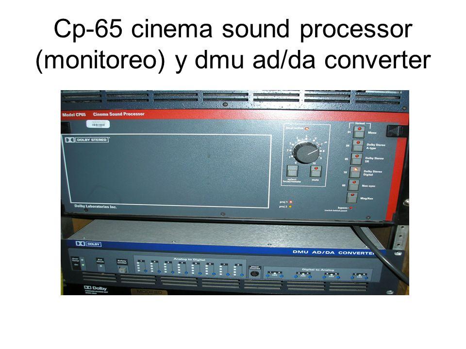 Cp-65 cinema sound processor (monitoreo) y dmu ad/da converter