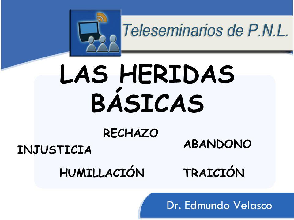 LAS HERIDAS BÁSICAS RECHAZO ABANDONO INJUSTICIA HUMILLACIÓN TRAICIÓN