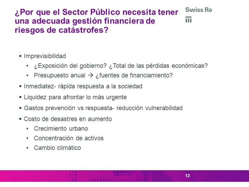 ¿Por que el Sector Público necesita tener una adecuada gestión financiera de riesgos de catástrofes