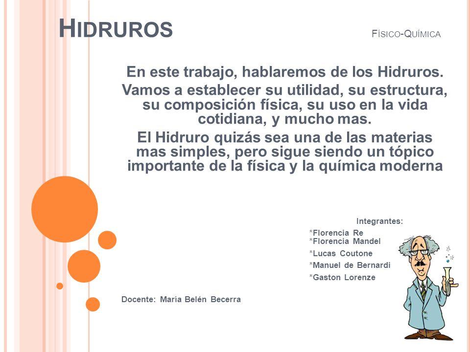 Hidruros Físico-Química
