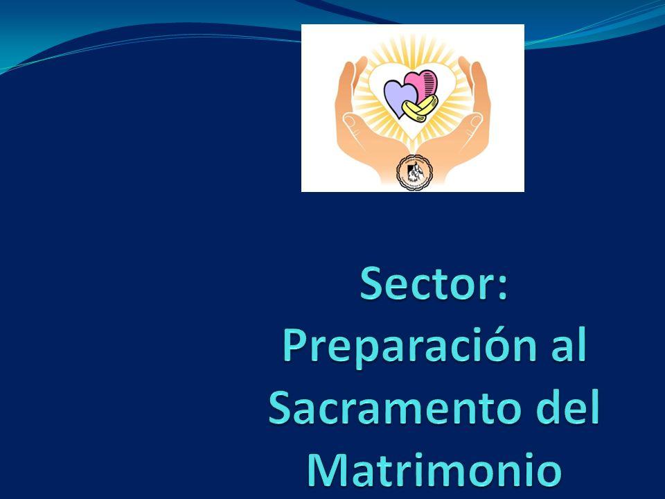 Sector: Preparación al Sacramento del Matrimonio