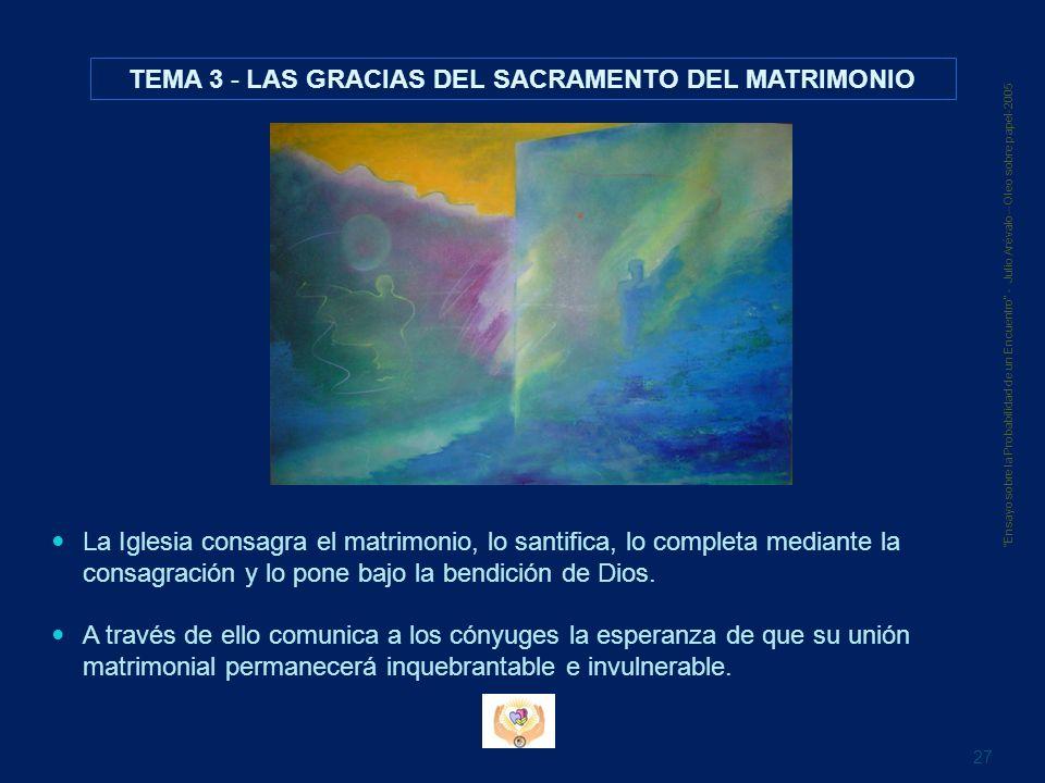 TEMA 3 - LAS GRACIAS DEL SACRAMENTO DEL MATRIMONIO