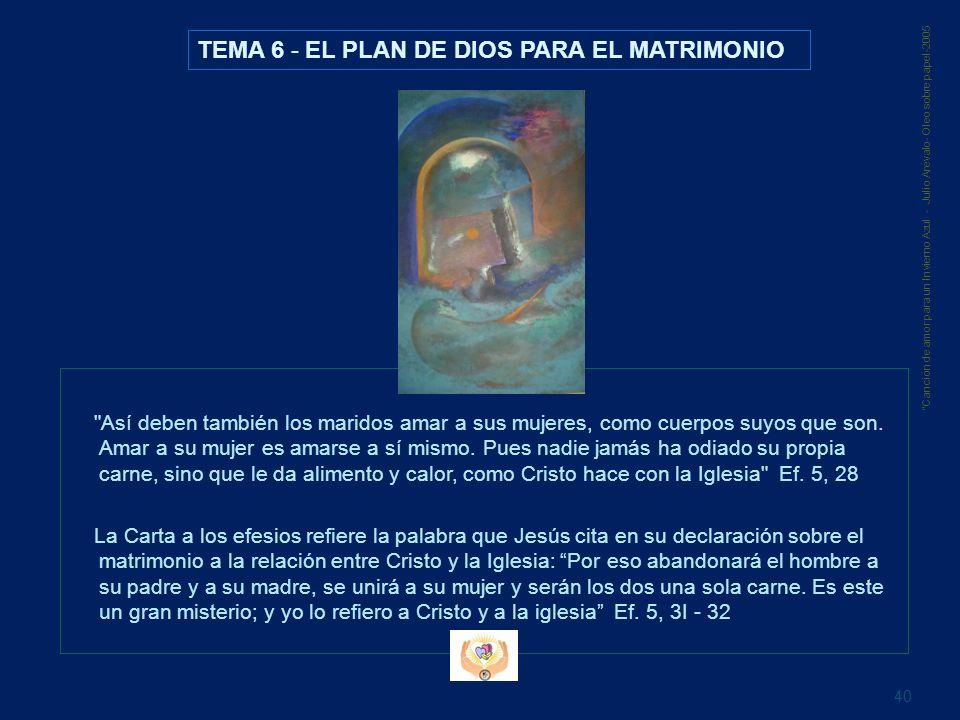 TEMA 6 - EL PLAN DE DIOS PARA EL MATRIMONIO